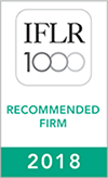 IFLR 1000 - Recommended Firm - 2018